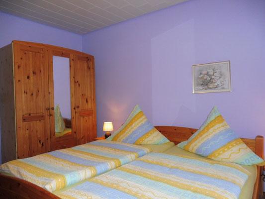 Schlafzimmer Apartment Sandbank
