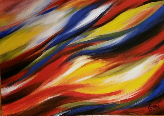 Farbenspiel, Acryl   Martin Knaus
