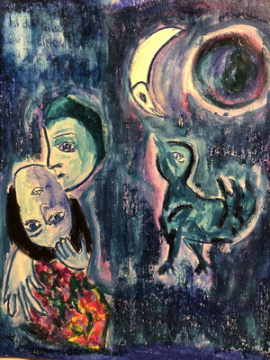 Ist die Liebe ein Lichtstrahl durch die blaue Tiefe der Nacht