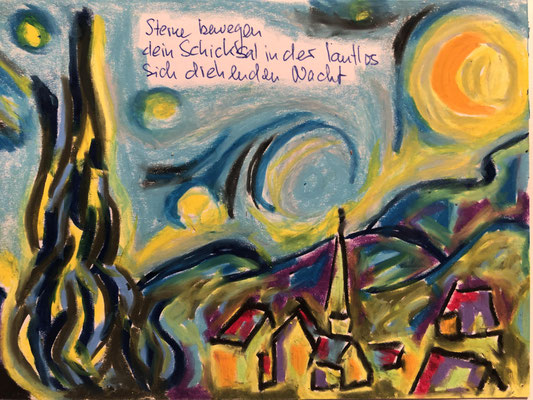 Sterne bewegen dein Schicksal in der lautlos sich drehenden Nacht