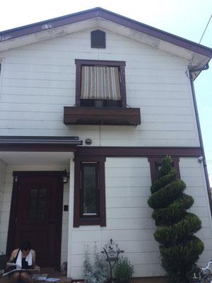 外壁塗り替え工事施工前のお写真