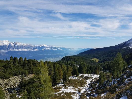 Die Morgensonne über Innsbruck