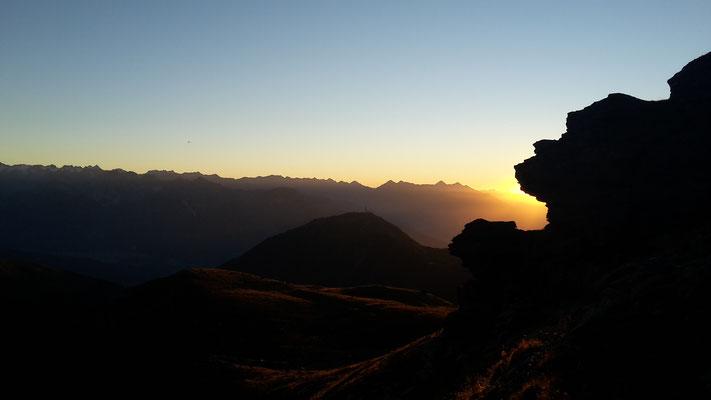 Sonnenuntergang am Glungezer