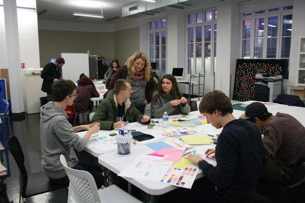 atelier des étudiants du lycée l'initiative à chaumont