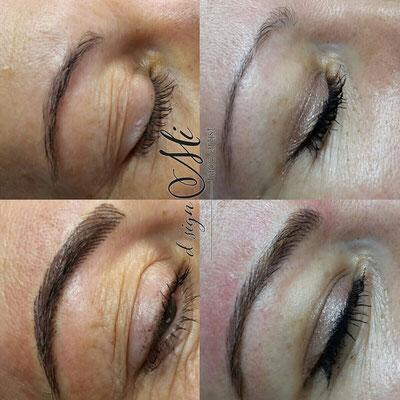 Permanent Make up vs Microblading Tirol Innsbruck Augenbrauen vorher nachher