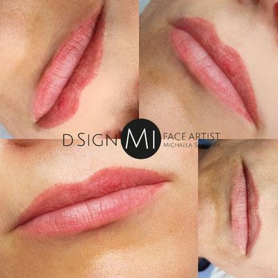 Lippen abgeheilt vor erster Nacharbeit - Microblading - d sign Mi Tirol/Innsbruck Permanent