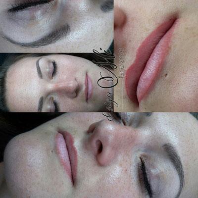 Permanent Make up Tirol Innsbruck Lippe Augenbrauen vorher nachher abgeheilt