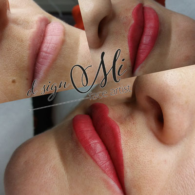 Permanent Make up Tirol Innsbruck Lippe vorher nachher