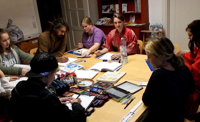 Weltenwanderer Jubiläums-Con 2016 - Zeichen Workshop