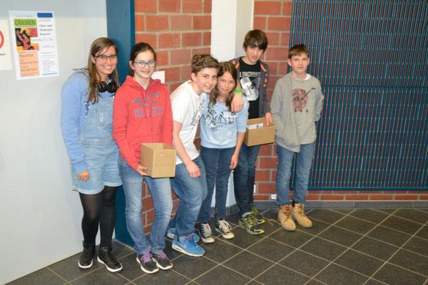 Mit großer Leidenschaft haben sich diese SV-Schüler als Organisatorenteam engagiert
