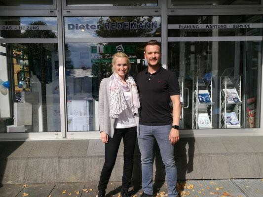 Jennifer Redemann und Martin Kolvenbach (Sanitär und Heizung Redemann)