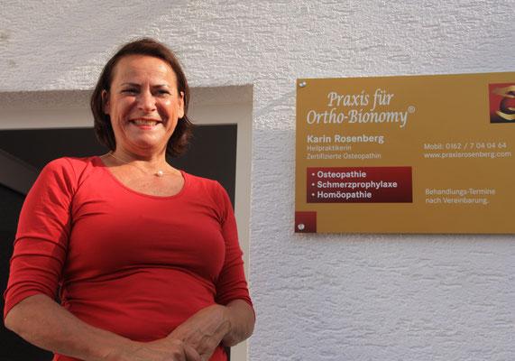 ... steht man vor Karin Rosenbergs Praxis für Ortho-Bionomy.