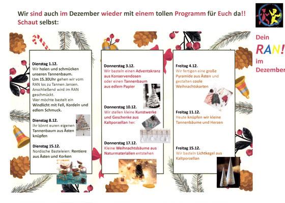 Das Programm für Dezember