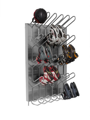 Schuhtrockner für 20 Paar warmwasser beheizt