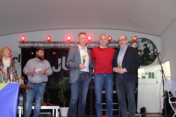 Vorrunden Bester: Wilhelm Maassen, Jodo Kaiser, Klaus Busche