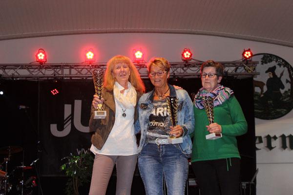 Stadtmeisterin Damen: Heike Schneider, Monika Babilon, Ulla Pojer