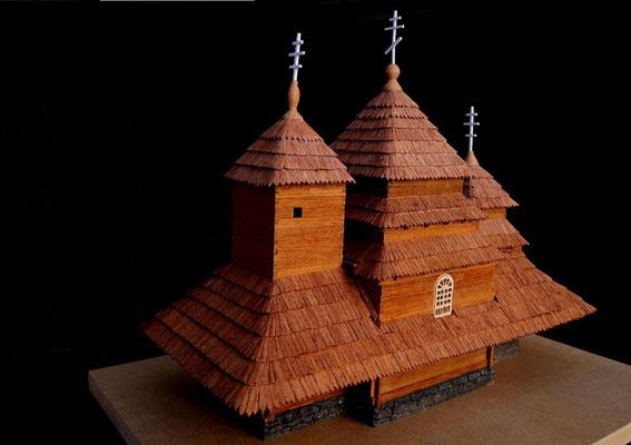 18th century Carpatian church at Uzhok.