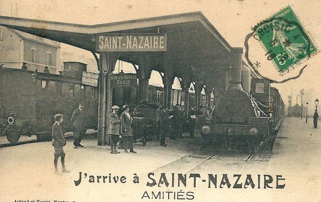 Saint-Nazaire, train en gare