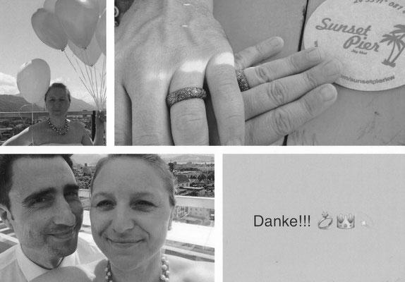 Die Ringe von euch sind bereits weit gereist! Vielen Dank! Andrea & Oliver