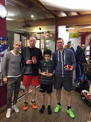 Die Sieger im B-Feld: von links Stefan, Yousseff & Sieger Christian