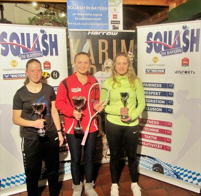 Die Titelträger bei den Damen U19 - ganz rechts Julia