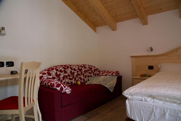 Camera matrimoniale, Abete Rosso, Val di Rabbi, Foto: M. Corradini
