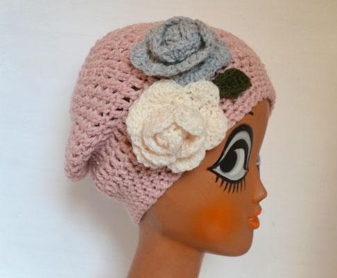 Mütze in rosé