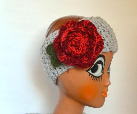 Stirnband Rose grau