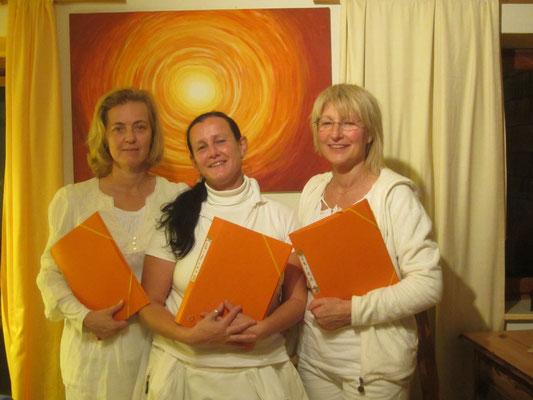 Von links -  Elisabeth, Cristina  und Erika