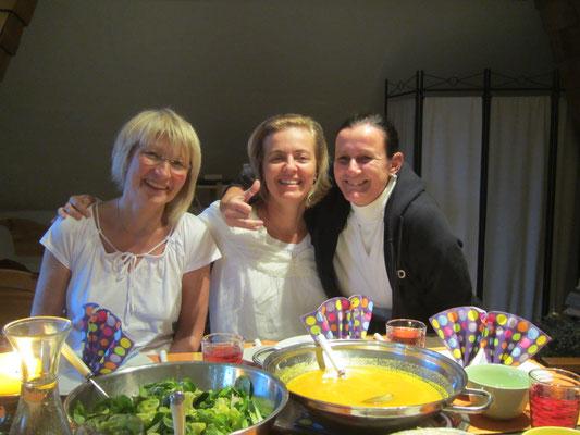 Von links -  Erika, Elisabeth und Cristina