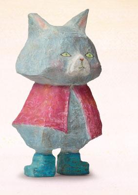 2018年ギャラリーハウスMAYA 装画コンペVol.18 入選作品「長靴をはいた猫」