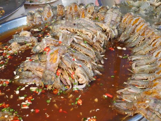 Rohe, eingelegte Shrimps