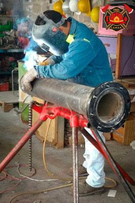 Tubo para hidrante contra incendio industrial