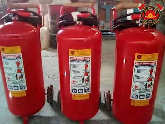 Unidad móvil de polvo químico seco PQS