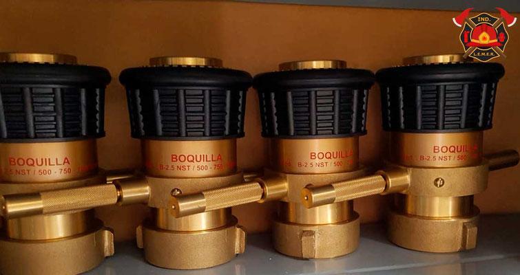 Chiflones de bronce para mangueras contra incendio