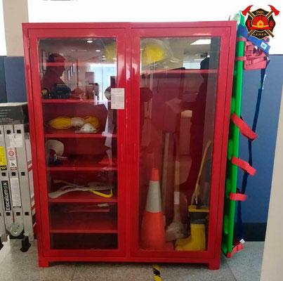 Gabinete para equipo de bombero