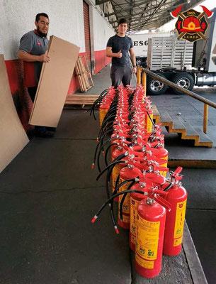 Extintores de polvo químico seco