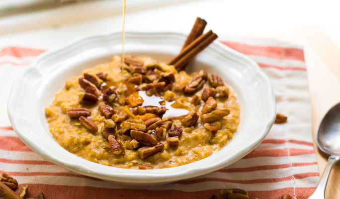 pumpkin cinnamon maple oatmeal recipe
