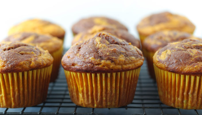 lighter chocolate-swirl pumpkin  muffin recipe