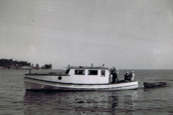 The very first lodge boat, June 1947
