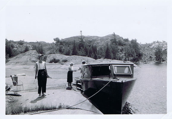 The second lodge boat, June 1947