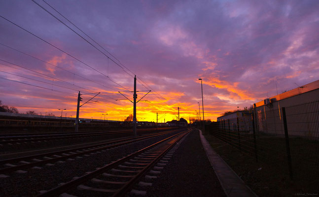 Sonnenaufgang Bahnhof Erkner