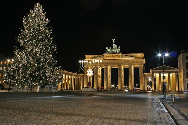 Weihnachten und Chaukka am Brandenburger Tor