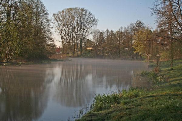 Spree mit Nebel hinter Erkner (Langzeitbelichtung)