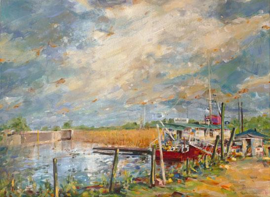 "Titel:""Batavia"", Größe: 80 cm x 60 cm, Acrylmalerei auf Leinwand"