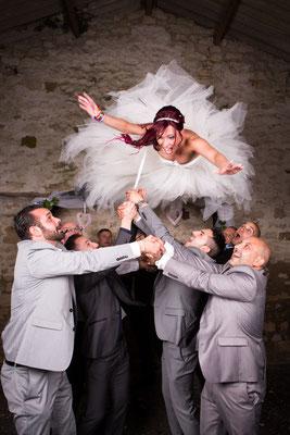 photo de mariage - oise - val d'oise - mariée portée