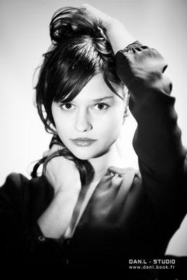 séance photo portrait studio ; portrait femme ; portrait noir et blanc ; portrait oise, portrait picardie