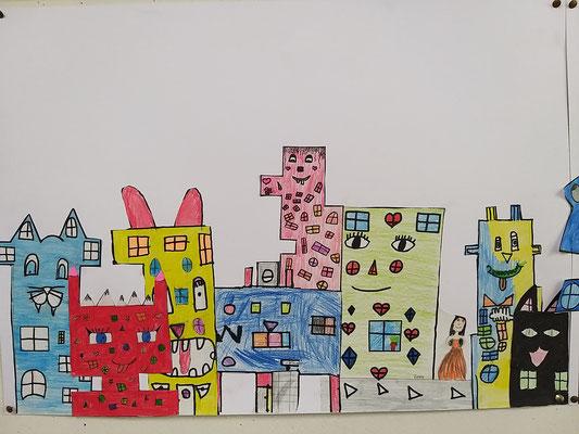 Kunstprojekt der Klasse 4b der Steinenbergschule Stuttgart-Hedelfingen