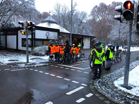 Fahrradprüfung der Klasse 4 - 7