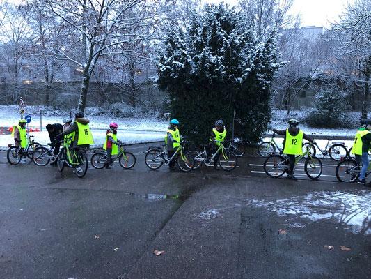 Fahrradprüfung der Klasse 4 - 5